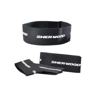 "SHER-WOOD Leg Straps Velcro 2"" - Junior - schwarz"