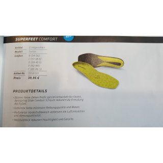 Superfeed Comfort Insoles 37-38,5